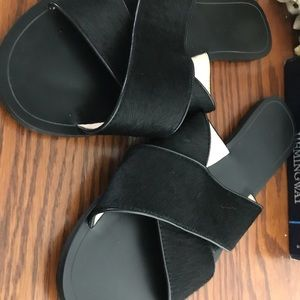 Banana republic dyed calf hair sandal size 11 EUC